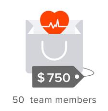 50 team members