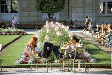 Accent gardens, Luxembourg Gardens, Paris, FR