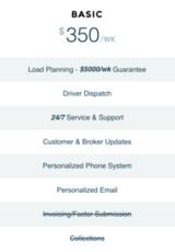 Basic ($350/wk per Driver)