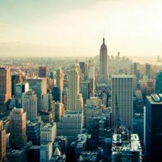 Hustling and bustling big city