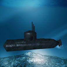 En ubåt som sjunkit
