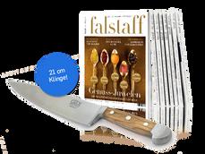 2 Jahresabo für € 118 | Güde Messer geschenkt