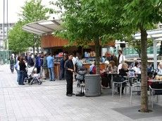 Cafe kiosk, London, UK