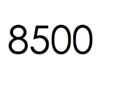 8.500 stuks. €1275,-  ex btw.