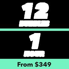 12 Bubbles for 1 Hour