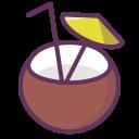 Verse kokosnoot met kokoswater