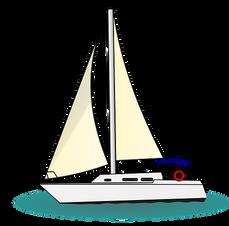 En segelbåt