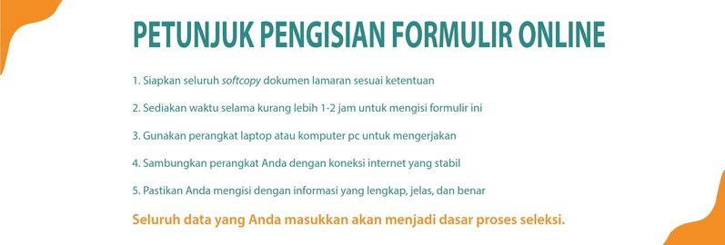 Petunjuk pengisian formulir online