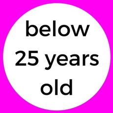 below 25