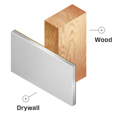 Drywall with Wood Studs