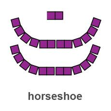 Chairs in a u-shape