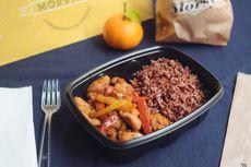 Bocconcini di pollo con peperoni e riso rosso integrale: 9€ [Allergeni: soia]