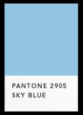 Небесный голубой