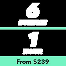 6 Bubbles for 1 Hour