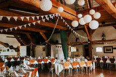 Tisch- und Saaldekoration