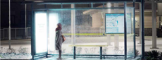 Heated transit shelters