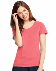 Relaxed V-Neck Coral Pink