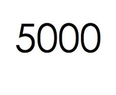 5.000 stuks. €750,- ex btw.