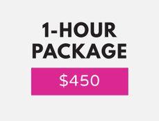 1 hour -- $450
