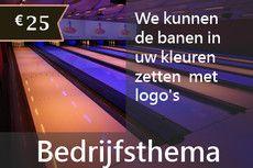Bedrijfsthema met banen in uw kleuren en logo's op de beamers a. €25