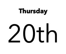 Thursday April 20th