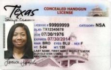 TX Concealed Handgun License