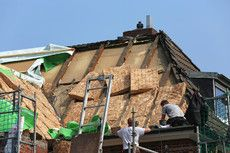 Hausdach ist gedämmt