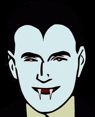 Folk klädda som vampyrer