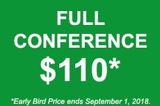 Full Conference: $110 ($25 Off!)