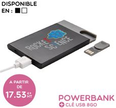 POWERBANK + CLE USB
