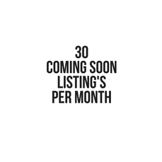 30 coming soon listing seats per month
