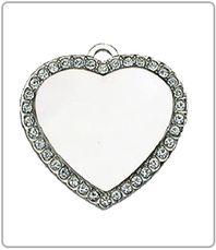 $35 Silver Studded heart