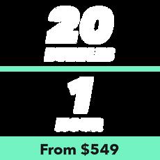20 Bubbles for 1 Hour