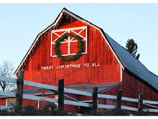 full red barn: Merry Christmas to All