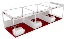 3m x 3m Shell Scheme Booth