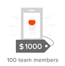 100 team members