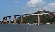 Vista para Terceira Ponte e Convento da Penha (Foto: Chico Guedes)