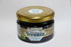 Черника протертая с сахаром (СРПК «Волна», Нефтеюганский район, пгт. Пойковский)