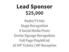 Lead Sponsor for $25,000