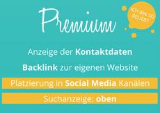 Premium Eintrag (189€ einmalig für 6 Monate)