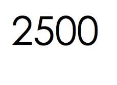 2.500 stuks. € 375,- ex btw.