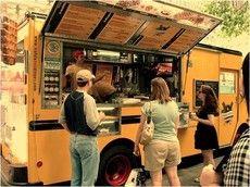 Food trucks, Harvard Plaza, Cambridge, MA