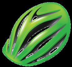 Gröna cykelhjälmar