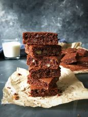 Almond Flour and Cornmeal Brownies by Soulful and Healthy
