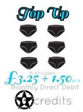 6 pairs of knickers for £4.75 per month including postage