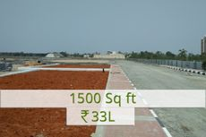 1500 sq.ft Rs.33L