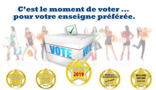 6e618245a75 Vous allez voter pour votre enseigne ou votre marque préférée. Grâce à votre  vote