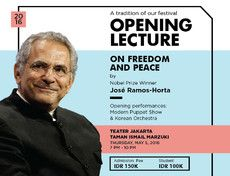 "Opening Lecture ""on Freedom and Peace"" by Nobel Prize Winner Jose Ramos-Horta"
