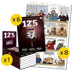 Pack n°1-6 revues-8 affiches-1 présentoir