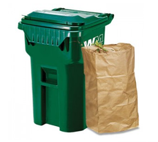 Curbside green bin for compost